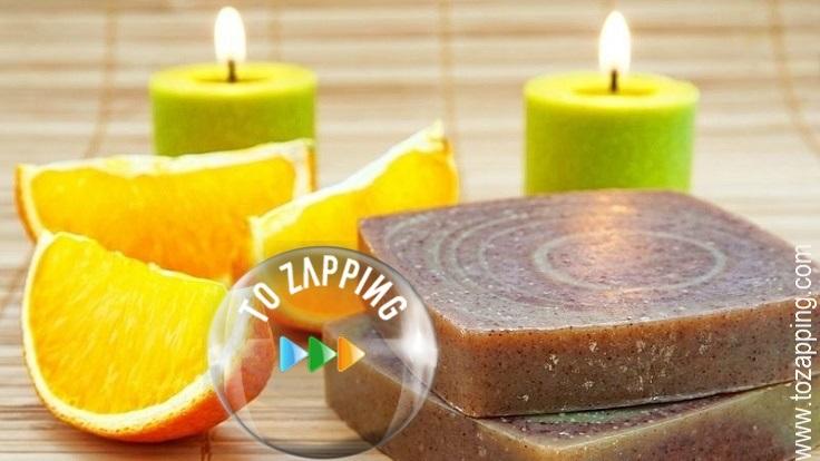 Jabón natural hecho de canela y naranja