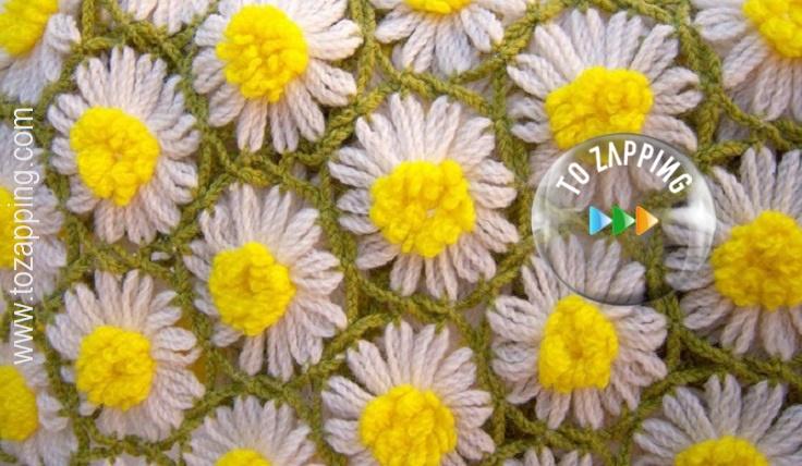 Mantas De Ganchillo Con Flores