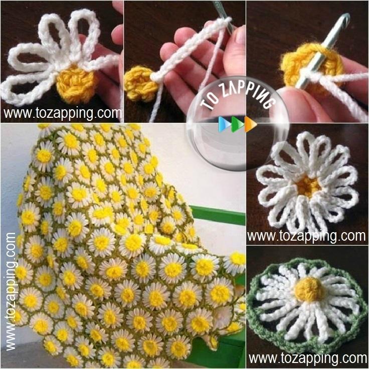 Mantas de ganchillo con flores - Mantas de ganchillo para sofas ...