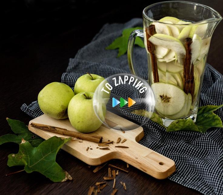Agua de canela con manzana para perder peso